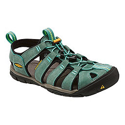 KEEN Clearwater CNX Leather Women's, Mineral Blue-Yellow, 256