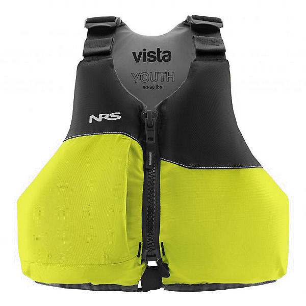 NRS Vista Youth Life Jacket - PFD, Lime, 600