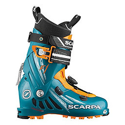 Scarpa F1 Ski Boot, Petrol Blue-Orange, 256