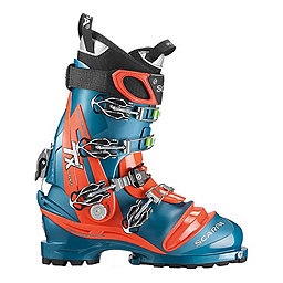 Scarpa TX Pro Telemark Ski Boot, Lyons Blue-Red Orange, 256