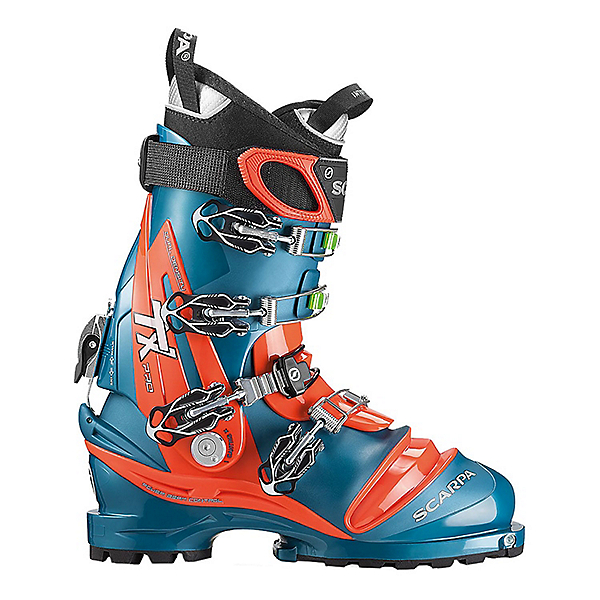 Scarpa TX Pro Telemark Ski Boot - 28.5/Lyons Blue-Red Orange, Lyons Blue-Red Orange, 600