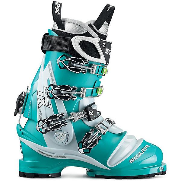 Scarpa TX Pro Telemark Ski Boot Women's - 24.5/Emerald-Ice Blue, Emerald-Ice Blue, 600