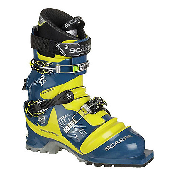 Scarpa T2 ECO Telemark Ski Boot - 28.5/True Blue-Acid Green, True Blue-Acid Green, 600