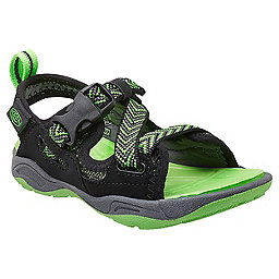 KEEN Rock Iguana Kids, Black-Jasmine Green, 256
