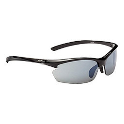 Optic Nerve Omnium PM Sunglasses, Shiny Black w-Photo Rose-Smoke, 256