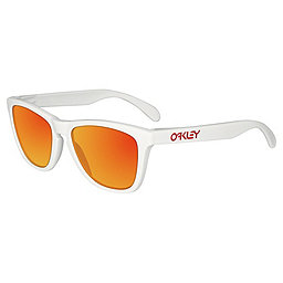 Oakley Frogskins Sunglasses, Polished White-Ruby Iridium, 256