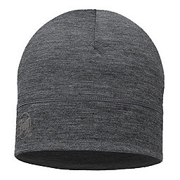 Buff Merino Wool Beanie, Grey, 256