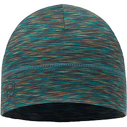 Buff Merino Wool Beanie, Blue Multi, 256