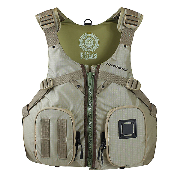 Stohlquist PiSeas Fishing PFD, Khaki, 600