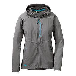 Outdoor Research Ferrosi Hooded Jacket Women's, Pewter-Typhoon, 256