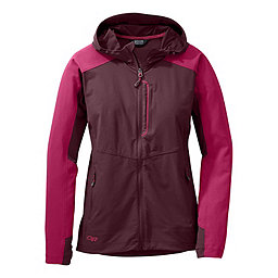 Outdoor Research Ferrosi Hooded Jacket Women's, Pinot-Sangria, 256