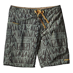 Patagonia Wavefarer Board Shorts 19 in, Tribal Geo-Hemlock Green, 256