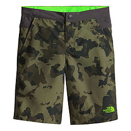 The North Face Hike/Water Short Youth, Olive Green Animal Camo Print, 256
