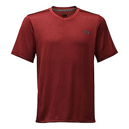 The North Face Reactor SS V Neck, Cardinal Red Heather, 256