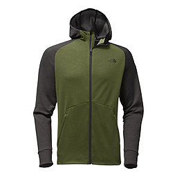 The North Face Versitas Hoodie, Green Heather-Dark Gry Heather, 256