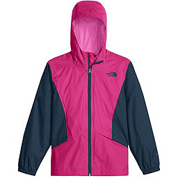 The North Face Zipline Rain Jacket Youth, Petticoat Pink-Blue Wing Teal, 256