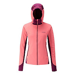 RAB Alpha Flux Jacket Women's, Coral-Berry-Berry, 256