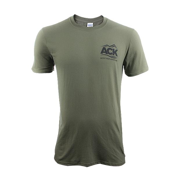 ACK Fishing Headquarters T-Shirt Military Green - S, Military Green, 600