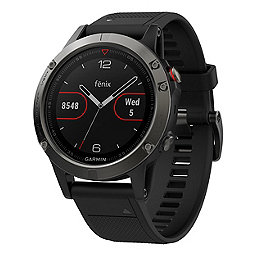 Garmin Fenix 5 Watch, Slate Gray-Black Band, 256