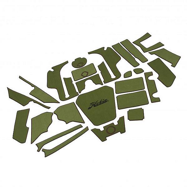Hobie Deck Mat Kit for Pro Angler 12 Kayaks Complete Green w/ Espresso Trim, Green w/ Espresso Trim, 600