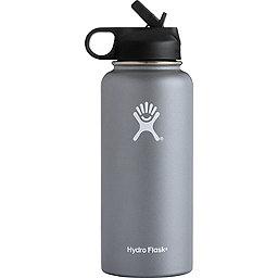 Hydro Flask 32 oz Wide Mouth w/Straw Lid, Graphite, 256