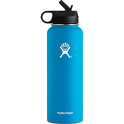 Hydro Flask 40oz Wide Mouth w/Straw Lid, Pacific, 256