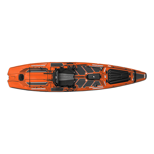 Bonafide SS127 Sit on Top Fishing Kayak Hondo Orange, Hondo Orange, 600