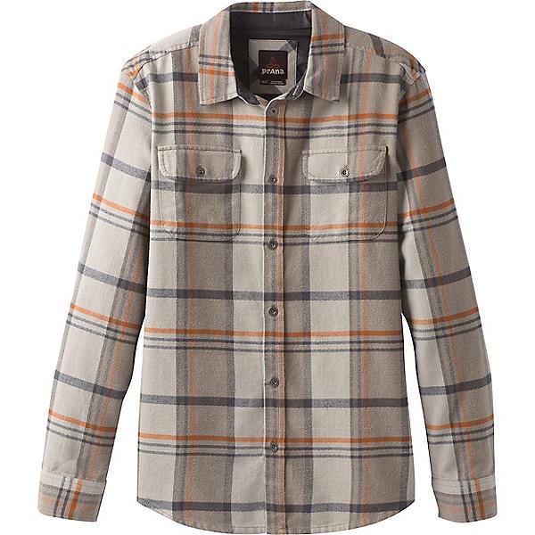 prAna Lybeck Flannel Shirt - LG/Mud, Mud, 600
