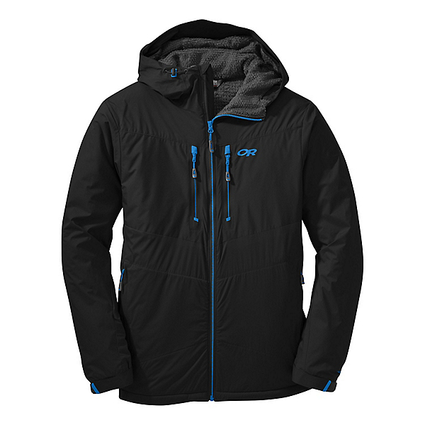 Outdoor Research AlpenIce Hooded Jacket - LG/Black, Black, 600