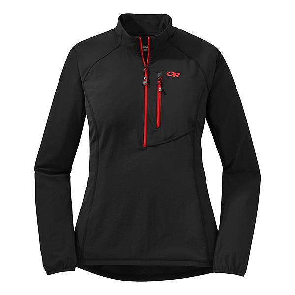Outdoor Research Ferrosi Windshirt Women's - LG/Black, Black, 600