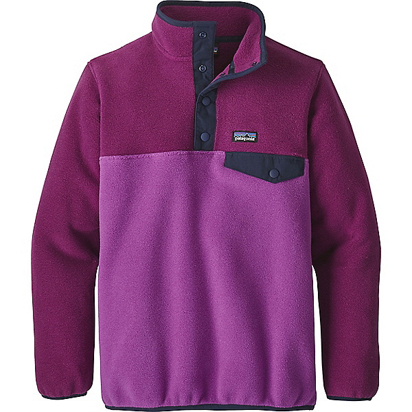 Patagonia Girls LW Synch Snap T PO - MD/Ikat Purple w-Stone Blue, Ikat Purple w-Stone Blue, 600