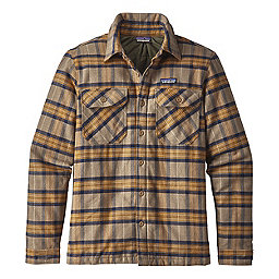 Patagonia Insulated Fjord Flannel Jacket, Migration Plaid Mojave Khaki, 256