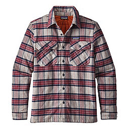 Patagonia Insulated Fjord Flannel Jacket, Migration Plaid Drumfire Red, 256