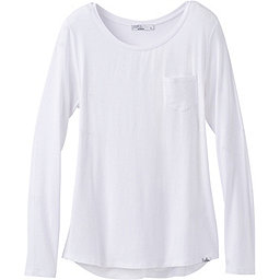 prAna Foundation LS Crew Neck Women's, White, 256