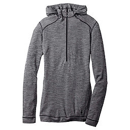 Smartwool Merino 250 1/2 Zip Hoody Women's, Black-Light Gray, 256