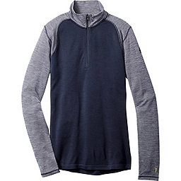 Smartwool Merino 250 Pattern 1/4 Zip, Deep Navy-Winter White, 256