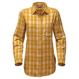 The North Face LS Boyfriend Shirt Women's, Arrowwood Yellow Plaid, 256