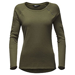 The North Face LS Campground Knit Top Women's, Burnt Olive Green, 256