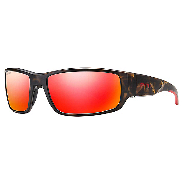 Smith Survey Sunglasses, Camo-Carbon Polar Red Mirror, 600