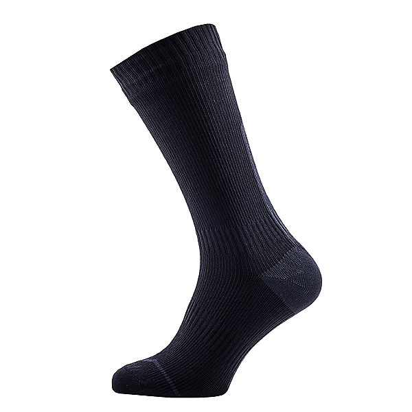 SealSkinz Road Thin Mid Socks with Hydrostop, Black/Grey, 600