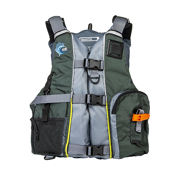 MTI Calcutta Life Jacket - PFD, Green/Gray, 600