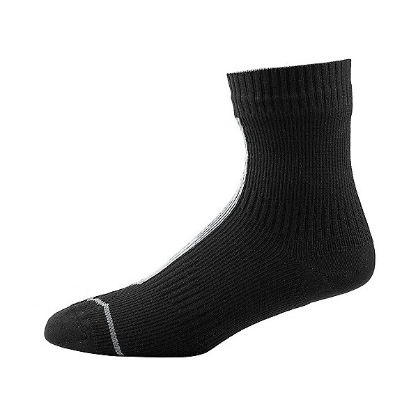 SealSkinz Road Thin Ankle Socks with Hydrostop, Black/Grey, 600