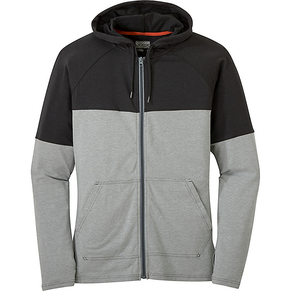 Outdoor Research Fifth Force Hoody - Men's - LG/Charcoal Heather-Black, Charcoal Heather-Black, 600