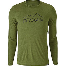 Patagonia Cap Daily Long Sleeve Graphic T-Shirt - Men's, Rune Age: Sprouted Green X-Dye, 256