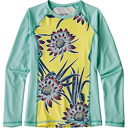 Patagonia Long Sleeve Silk Weight Rashguard Girls', Cereus Flower: Spire Yellow, 256