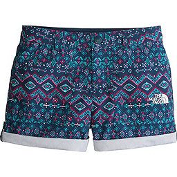 The North Face Amphibious Short - Girl's, Blue Wing Teal Medallion Print, 256