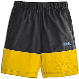 The North Face Class V Water Short - Boy's, Yellow Logo Phantom Print, 256