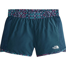 The North Face Class V Water Short - Girl's, Blue Wing Teal Medallion Print, 256