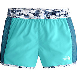 The North Face Class V Water Short - Girl's, Blue Wing Teal Fern Print, 256