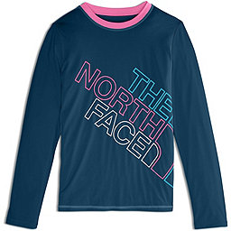 The North Face Long Sleeve Amphibious Tee - Girl's, Blue Wing Teal, 256